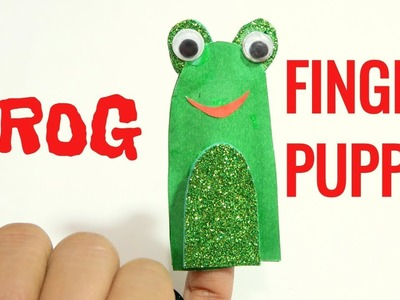 FROG FINGER PUPPET | HOW TO MAKE FINGER PUPPET | ANIMAL PUPPET | PUPPET FOR KIDS | KIDS CRAFT | TANU