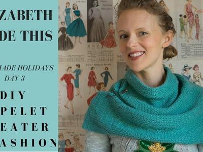 Handmade Holidays day 3 diy capelet sweater refashion