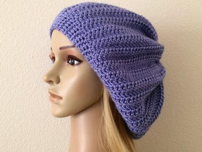 How To Crochet A Beret, Lilu's Handmade Corner Video # 213