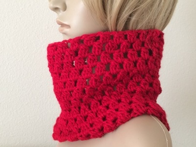 How To Crochet A Cowl, Lilu's Handmade Corner Video # 212