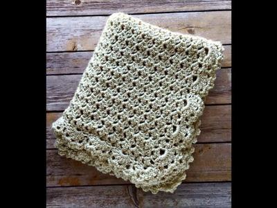 How to Crochet: Duchess Baby Blanket Part I - Left Handed