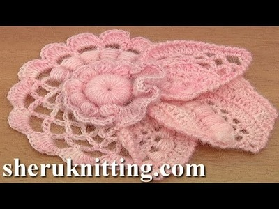 How to Crochet Floral Scrumble Tutorial 4 Part 2 of 2 Freeform
