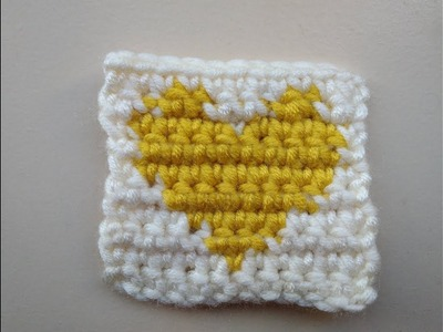 How to crochet heart with graph and change colors