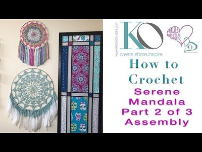 How to Crochet Mandala Wall Hanging Part 3 of 3 How to Join Motif to Metal Ring