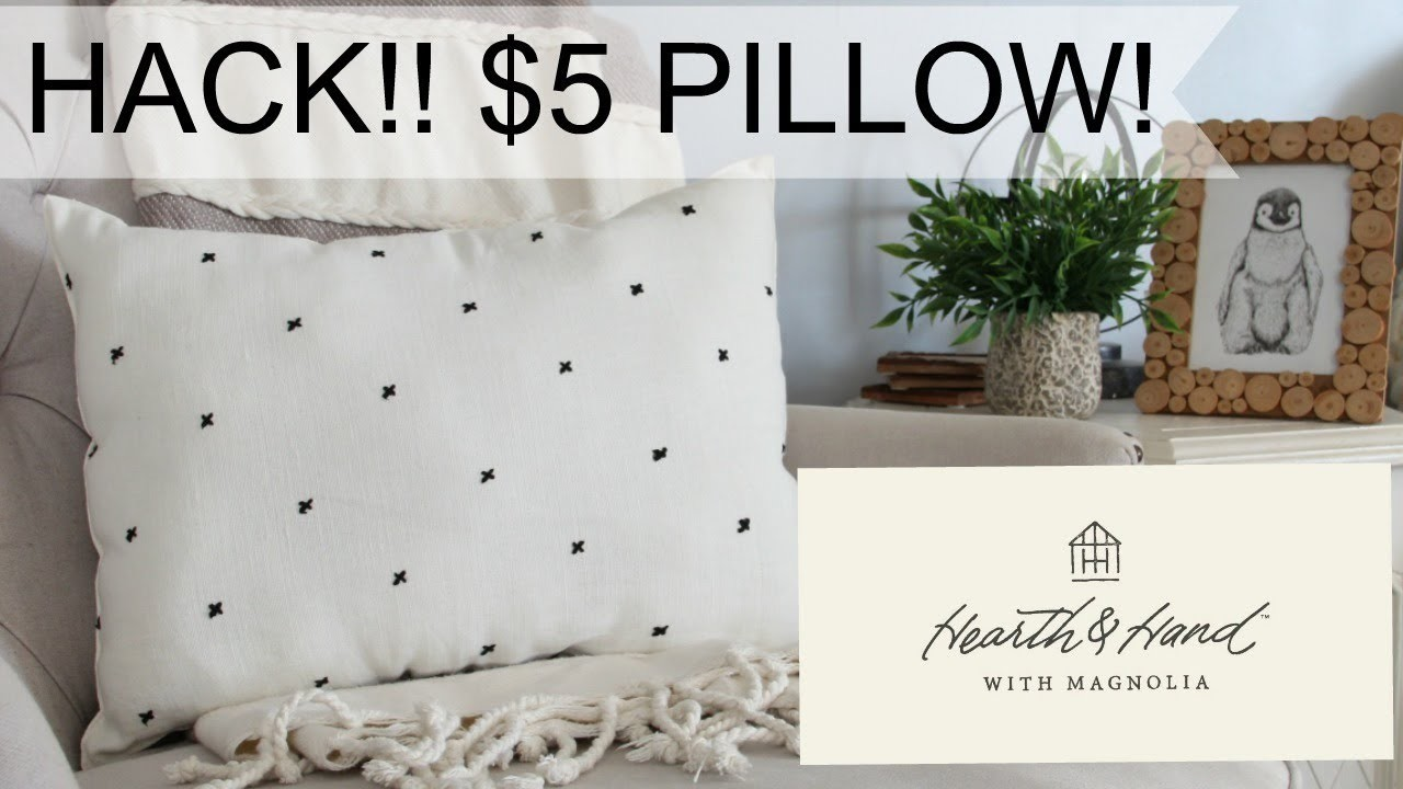How to get a Hearth & Hand Pillow for $5!!! DIY Hearth and Hand Magnolia Pillow!