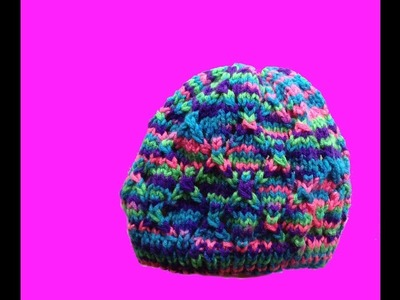 How to knit a hat - with straight needles for a small child