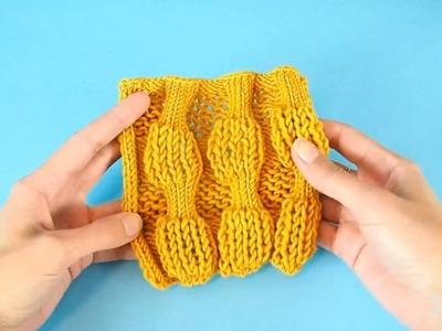 How to knit bubble wrap stitch