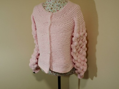 How to knit the Bobble or Bubble Cardigan