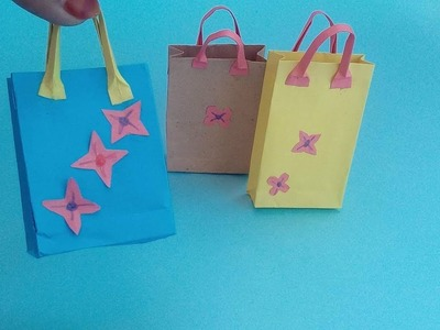 How to make a mini shopping bag