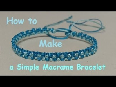 How to Make a Simple Two Tone Friendship Bracelet