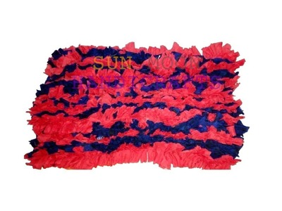 How to make doormat by recycle clothes.Reuse Your Old Clothes to make, carpet, table mat, door mat