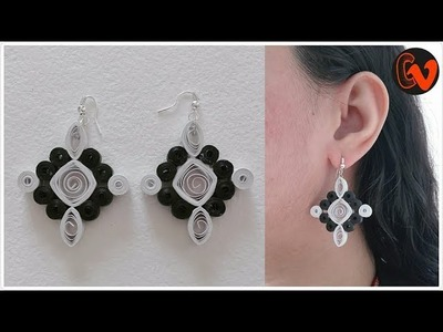 How to Make Quilling Earrings. Paper Quilling Earrings. Design 88