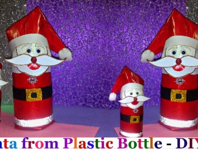 How to Make Santa From Plastic Bottle.Easy Christmas Craft ideas-Recycled Crafts Ideas : DIY