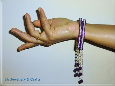 How to make Silk thread hanging bangles   DIY   Tutorial