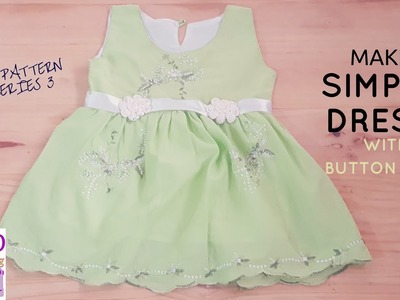 How to Make Simple Dress with Button hole