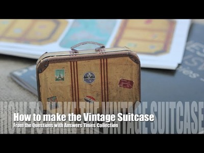 How to make the Questions with Answers Vintage Suitcase
