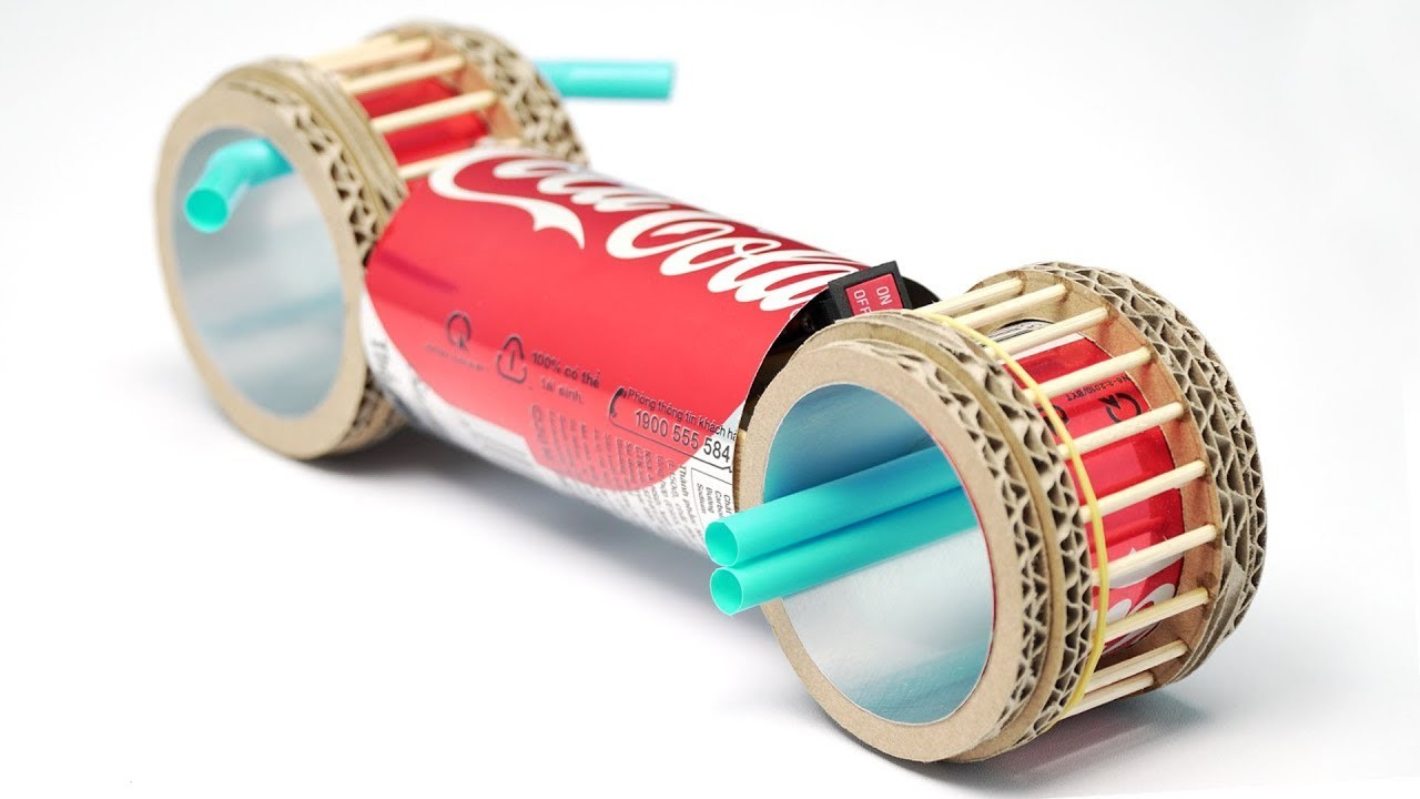 How To Make Tron Motorbike from Coca Cola DIY simple at home