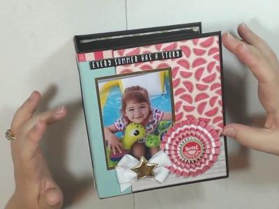 July Craftology Echo Park Summer Fun Chunky Mini Album Review