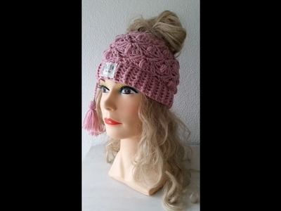 Left Handed - Bella Rose Crochet Hat
