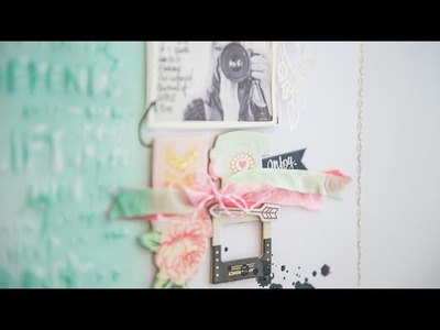 Let's try again: A Scrapbook Process video by Wilna