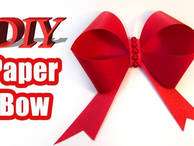 Paper bow. How to make a Paper Bow DIY. Origami Easy Bow Paper Crafts