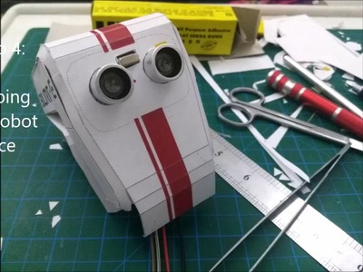 Paper Craft Arduino Robot Burn-E  (Part 1)