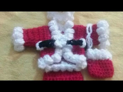 Santa jacket. coat with belt crochet santa christmas dress (3-- 4 no.) part - 5