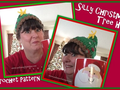Silly Christmas Tree Hat Crochet Pattern