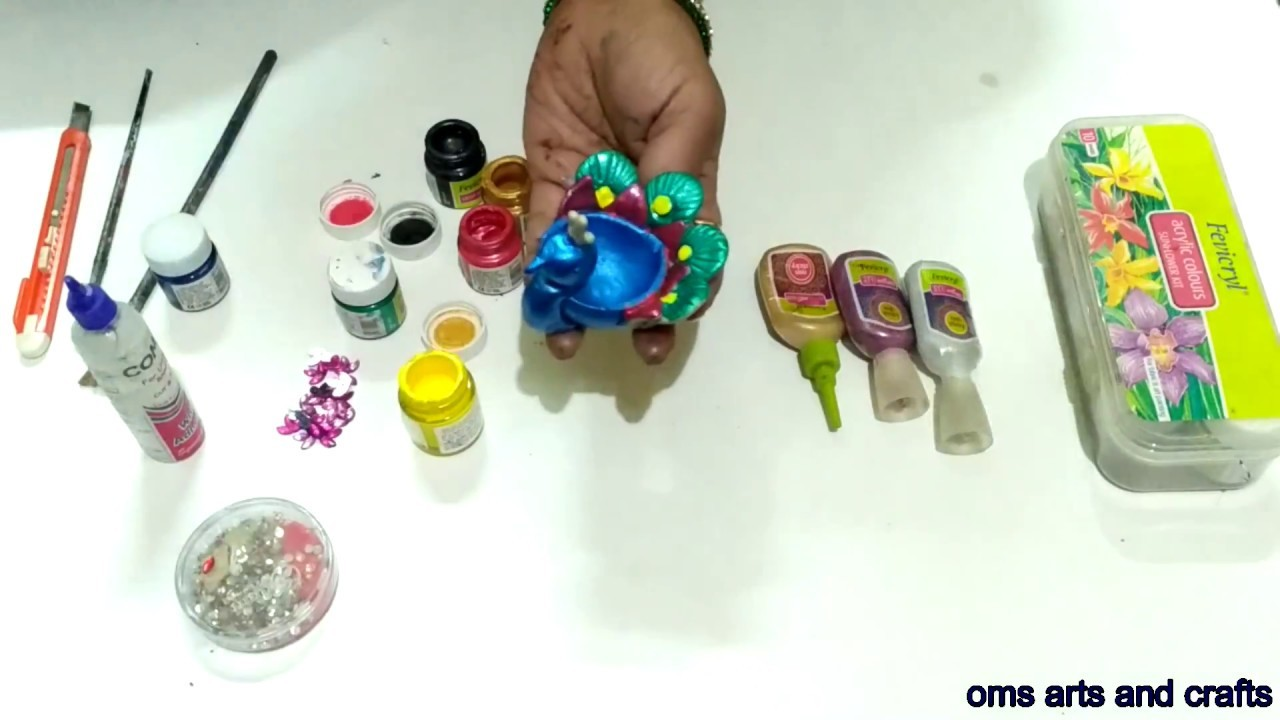 WASTE TO BEST | Make PEACOCK with DIYA || OMS arts and crafts