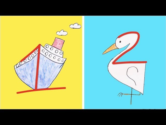 8 Ways To Learn How To Draw Drawing With Letters And Numbers