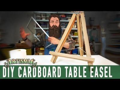 Artist Table Easel ~ CARDBOARD HOW TO  DIY ~ Artismia
