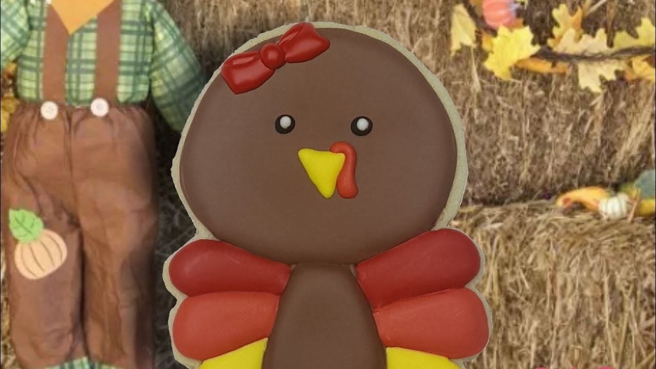 Baby Turkey Thanksgiving Sugar Cookie (How to)