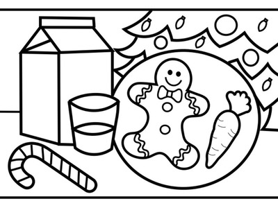 CHRISTMAS COLORING!! How to Draw and Color Cookies and Milk for Santa| Gingerbread Cookies for Kids
