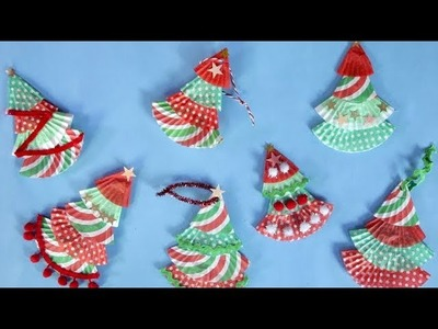 Christmas Trinkets: How to Make Trees Out of Cupcake Liners