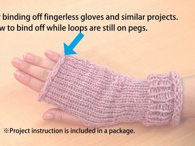 CLOVER 3178 Standing Oval knitting Loom Basic Instructions wristwarmer 20160810