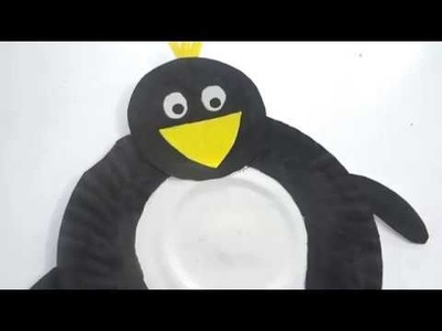 Craft Ideas - How to make Penguin from a paper plate