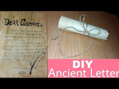 DIY : Ancient letter.Old Paper Greeting Card(how to make paper look like old)