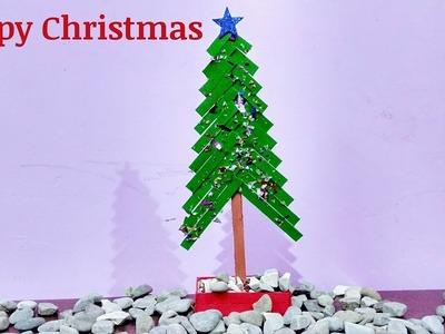 DIY Christmas tree Special | How to make popsicle sticks Christmas tree