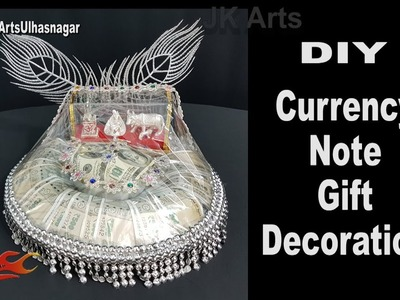 DIY Currency Note Gift Decoration | How to decorate Shagun Money Basket | JK Arts 1315
