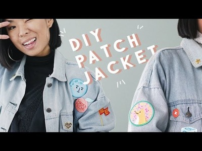 DIY Embroidery Patch & Pin Jean Jacket - How To Iron On *GIVEAWAY*
