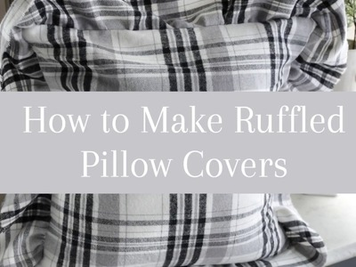 DIY Home Decor-How to Make a Ruffled Pillow