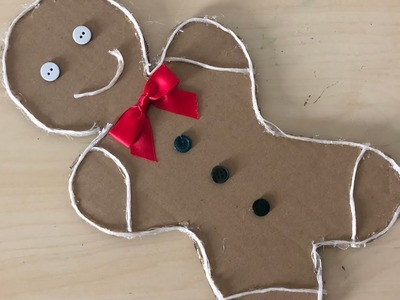 DIY: How to Make a Gingerbread Man Out of Cardboard