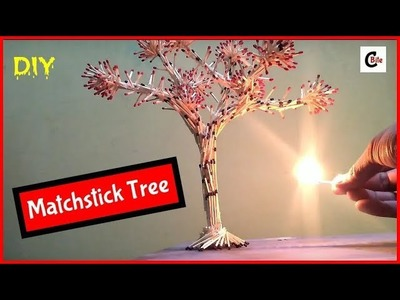 DIY   How To Make A Matchstick Tree step by step   Matchstick Art and Craft    Home Made