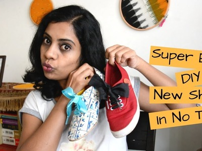 DIY: How To Revamp Your Old Shoes | Shoe Lace Bow Like Puma | Arpitharai