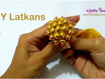 DIY Latkans for Blouses Using Scrap Fabric | How to make Latkans at home | www.knottythreadz.com