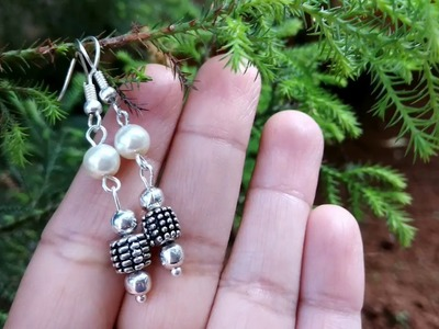 DIY Simple Beaded Earring|| How to make Beads Hanging Earring