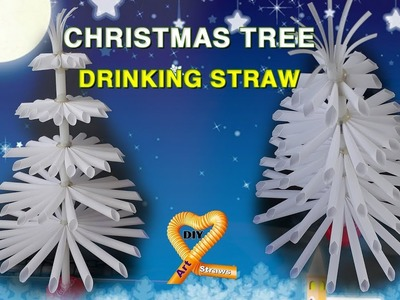 DIY Straws - Christmas tree decoration ideas - How to make christmas tree out of straw