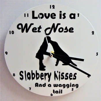 dog lovers clock