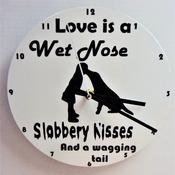dog lovers clock