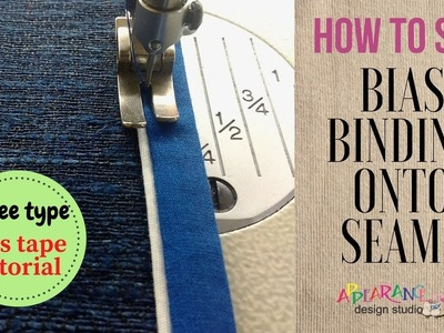 How to Apply Bias Tape to Fabric [ Sewing Machine]